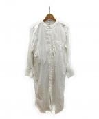 emmi atelier(エミアトリエ)の古着「ロングルーズシャツワンピース」|ホワイト