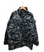 US NAVY(ユーエスネイビー)の古着「デジタルカモマウンテンジャケット」|ネイビー×グレー