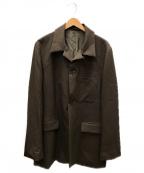 DAIRIKU(ダイリク)の古着「Open Collar Tailored Jacket」 ブラウン