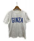 ()の古着「コラボプリントTシャツ」 ホワイト×ブルー