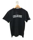 AKA SIX simon barker×FRAGMENT DESIGN(エーケーエーシックスサイモンバーカー×フラグメントデザイン)の古着「コラボプリントTシャツ」|ブラック