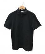 GUY ROVER(ギローバー)の古着「鹿の子ポロシャツ」|ブラック