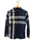 BURBERRY(バーバリー)の古着「ノヴァチェックシャツ」|ネイビー×グレー
