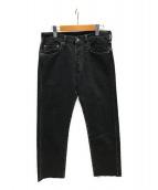 ()の古着「カットオフデニムパンツ」 ブラック