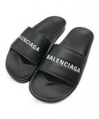 BALENCIAGA(バレンシアガ)の古着「ロゴプリントサンダル」|ブラック