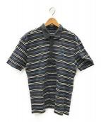 BURBERRY BLACK LABEL(バーバリーブラックレーベル)の古着「ポロシャツ」|ライトグレー