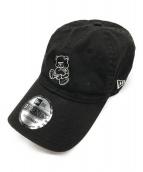 New Era×UNDERCOVER(ニューエラ×アンダーカバー)の古着「コラボベアー刺繍キャップ」|ブラック×ホワイト