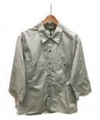 LEMAIRE()の古着「ミリタリールーズシャツ」 ライトグレー