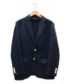 ()の古着「コットンフレンチツイル 2Bテーラードジャケット」|ブルー