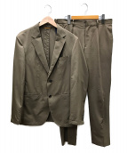 TAKEO KIKUCHI(タケオキクチ)の古着「テックストレッチセットアップスーツ」|ベージュ