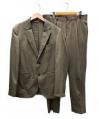 TAKEO KIKUCHI(タケオキクチ)の古着「テックストレッチセットアップスーツ」 ベージュ
