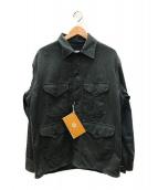 POST OALLS(ポストオーバーオールズ)の古着「クルーザージャケット」 グレー