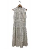 JILL STUART(ジルスチュアート)の古着「サラレースニットワンピース」|ホワイト