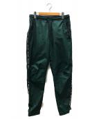 M+RC NOIR(マルシェノア)の古着「ロゴナイロントラックパンツ」|グリーン