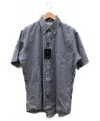 Yves Saint Laurent(イヴサンローラン)の古着「ロゴ刺繍ギンガムBDシャツ」|ブルー