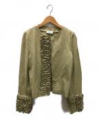 MARNI(マルニ)の古着「ノーカラージャケット」|ベージュ
