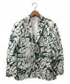 Black Fleece(ブラックフリース)の古着「総柄2Bジャケット」|グリーン
