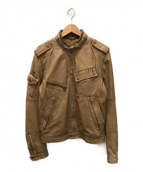 DIESEL(ディーゼル)DIESEL (ディーゼル) シープレザーブルゾン ベージュ サイズ:SIZE Sの古着・服飾アイテム
