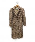 PRADA()の古着「ツイードチェスターコート」|マルチカラー