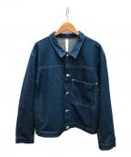 SHINYA KOZUKA(シンヤコズカ)の古着「ビッグショートデニムジャケット」|スカイブルー