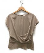 MOGA(モガ)の古着「トリアセトロフレンチスリーブブラウス」|アイボリー