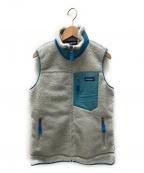 Patagonia()の古着「レトロXフリースベスト」|グレー×ブルー