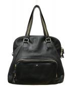 ()の古着「レザー2WAYバッグ」|ブラック