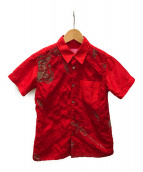CDG JUNYA WATANABE MAN(コムデギャルソン ジュンヤワタナベマン)の古着「デザインシャツ」 レッド