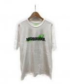 NEIGHBORHOOD()の古着「バックプリントTシャツ」|ホワイト×グリーン