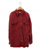 Paul Smith London(ポールスロンドン)の古着「古着ビッグペイズリーシャツ」 レッド×パープル