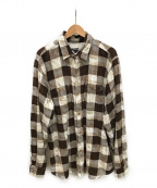 stussy()の古着「裏地サーマルブロックチェックネルシャツ」 ブラウン×アイボリー