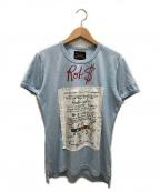 Vivienne Westwood ANGLOMANIA(ヴィヴィアンウエストウッド アングロマニア)の古着「プリントTシャツ」|スカイブルー