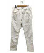MONCLER(モンクレール)の古着「バックロゴデニムパンツ」|ホワイト