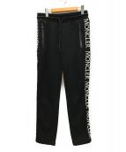 MONCLER(モンクレール)の古着「サイドロゴスウェットパンツ」 ブラック
