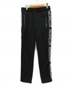 MONCLER(モンクレール)の古着「サイドロゴスウェットパンツ」|ブラック