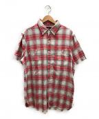 RRL()の古着「半袖ルーズチェックシャツ」|ピンク×グレー