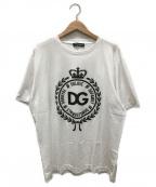 DOLCE & GABBANA(ドルチェ&ガッバーナ)の古着「プリントTシャツ」|ネイビー