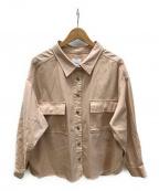 Ameri VINTAGE()の古着「シャツジャケット」|ピンク