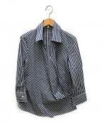 NARA CAMICIE(ナラカミーチェ)の古着「ロンドンストライプカシュクールシャツ」 ブルー×ホワイト