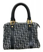 Christian Dior(クリスチャン ディオール)の古着「ミニボストンバッグ」|ネイビー×グレー