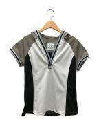 CHANEL()の古着「半袖メッシュカットソー」 ライトグレー