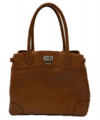 ()の古着「レザーハンドバッグ」|ブラウン