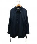 Toironier(トワロニエ)の古着「ブロードルーズシャツ」 ネイビー