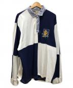 Rugby Ralph Lauren(ラグビーラルフローレン)の古着「ラガーシャツ」 ブルー