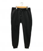 1PIU1UGUALE3 RELAX(ウノピゥウノウグァーレトレリラックス)の古着「刺繍スウェットパンツ」 ブラック