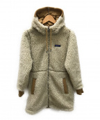 Patagonia()の古着「フーデッドボアフリースジャケット」|ベージュ