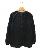 PUBLIC TOKYO(パブリックトウキョウ)の古着「リーフカットジャガードブラウス」|ブラック