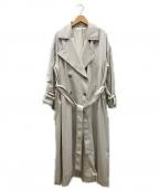 PUBLIC TOKYO(パブリックトウキョウ)の古着「フレアスリーブトレンチコートコート」|ベージュ