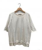 REMI RELIEF(レミレリーフ)の古着「ヘビーウェイトコットン半袖スウェット」|ホワイト