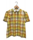 ()の古着「チェックシャツ」|イエロー